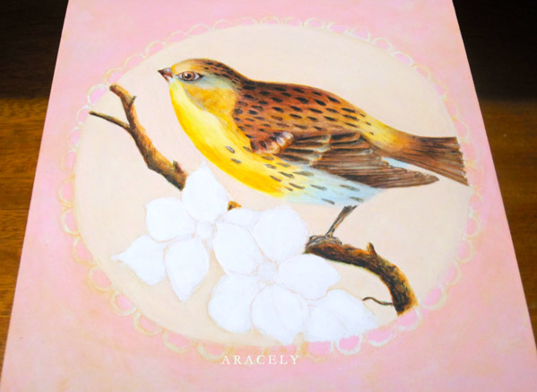 Paso a paso para pintar un ave con acr licos pintura - Aprender a pintar en madera ...