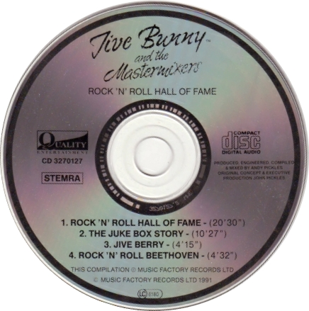 los 90 en mp3 ii jive bunny and the mastermixers rock 39 n 39 roll hall of fame cd album 1991. Black Bedroom Furniture Sets. Home Design Ideas