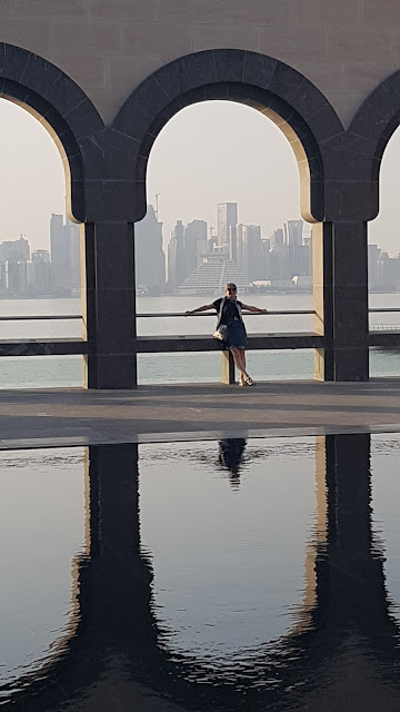 Outside The National Museum of Qatar