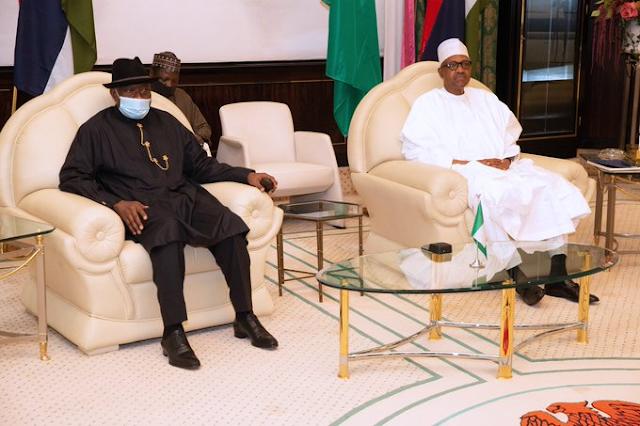 UPDATE: President Buhari, Jonathan Aso Villa Meeting