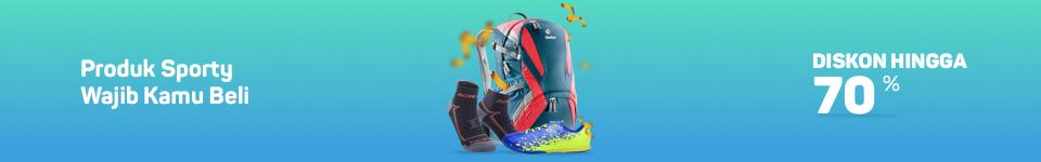 Bukalapak - Promo Diskon s.d 70% Produk Sporty (s.d 16 Sept 2018)