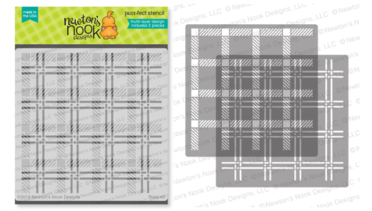 Plaid Stencil Set by Newton's Nook Designs