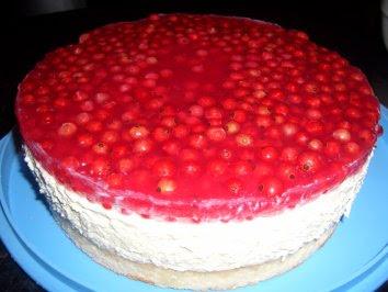 Verboten Gut Kasesahne Torte Mit Roten Johannisbeeren