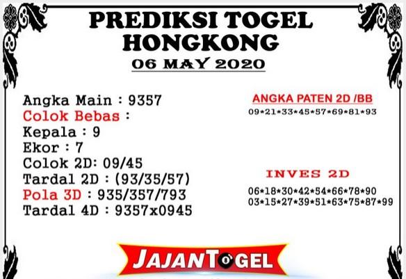 Prediksi HK Malam Ini 07 Mei 2020 - Prediksi Jajan Togel