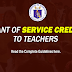 Grant of Service Credits to Teachers