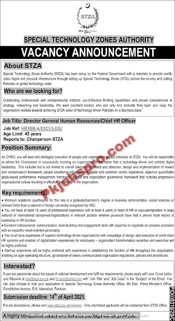 Special Technology Zones Authority jobs 2021