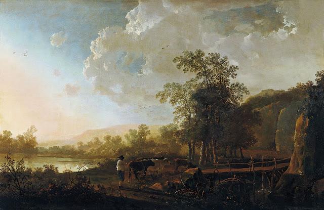 Альберт Кёйп - Пейзаж с пастухом и стадом. 1650-55