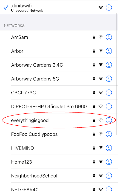 Network name: Everything Is Good