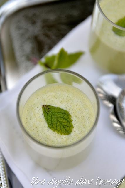 Crème de petits pois chèvre-menthe en verrine