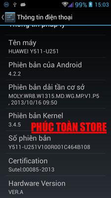 Tiếng Việt Huawei Y511-U251 alt