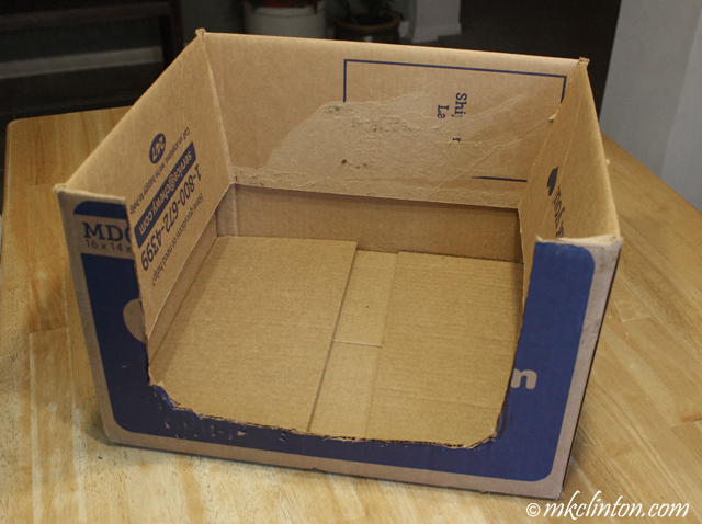 box with flaps folded