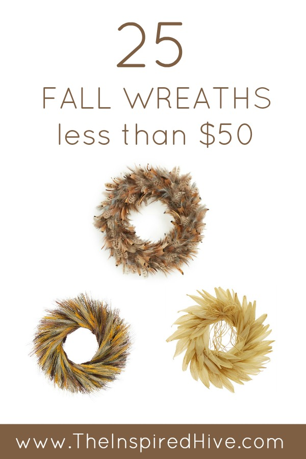 25 affordable fall wreaths that cost less than $50!