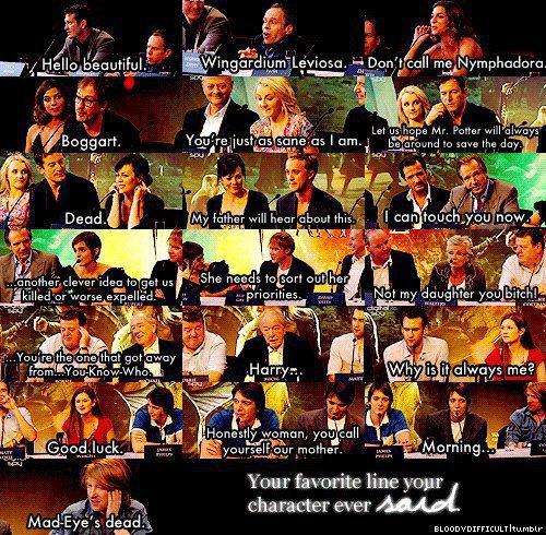 Favourite Harry Potter Quotes: Hogwarts Alumni: July 2012