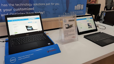 Latitude laptops on display at the Dell Exclusive Store.