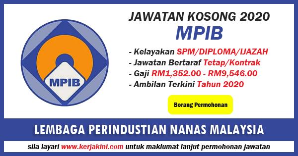 jawatan kosong lembaga perindustrian nanas malaysia 2020
