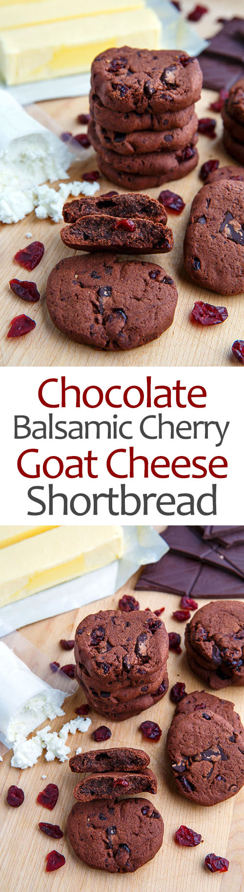 Chocolate Cherry Balsamic Goat Cheese Shortbread on Closet Cooking