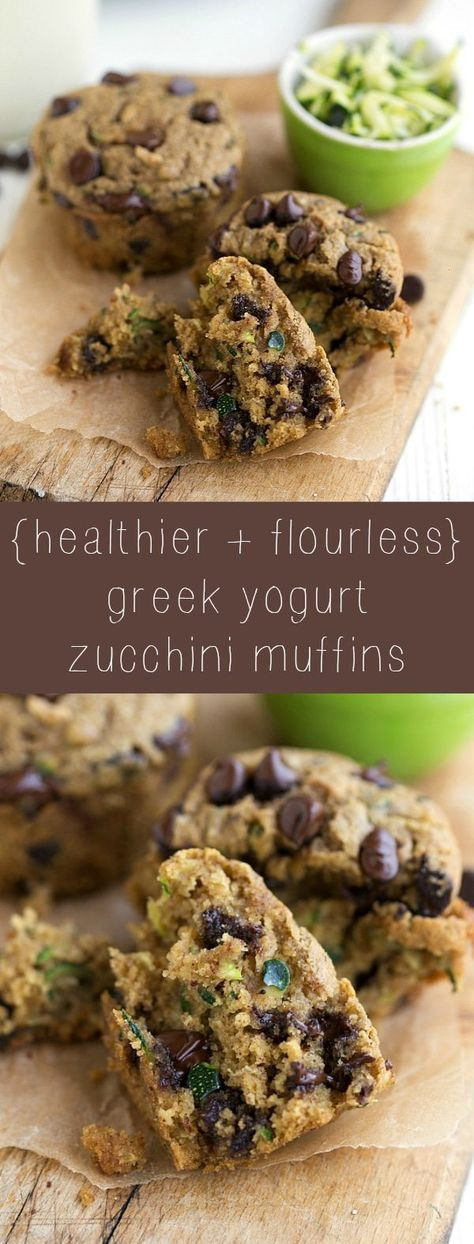 Healthy and Flourless Zucchini Muffins