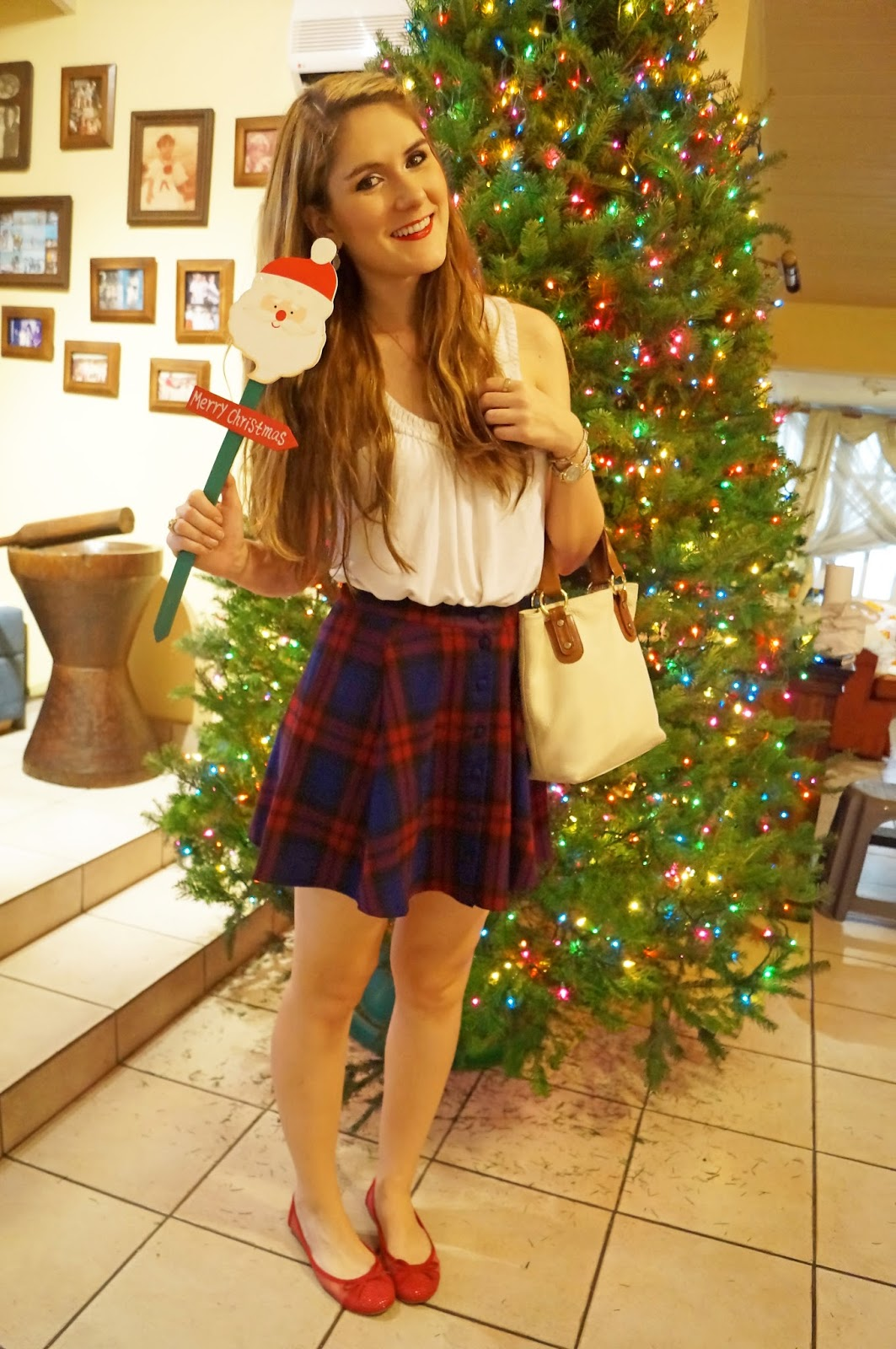Outfit with a Plaid Skirt