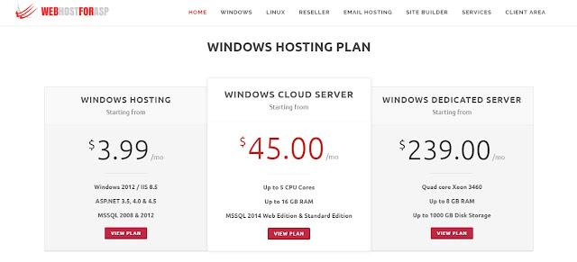 WebHostForASP - ASP.NET Core 1.1 Hosting Plan