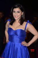Mannara Chopra in Deep Neck Blue Gown at Zee Telugu Apsara Awards ~  Exclusive 044.jpg