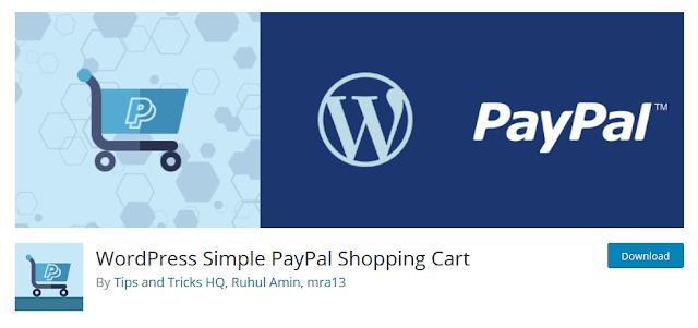3 Plugin WordPress yang Wajib Diinstall di Website Toko Online - WordPress Simple PayPal Shopping Cart Plugin