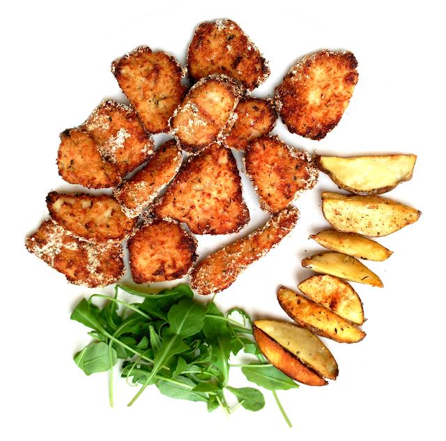 nuggets de pavo y patatas deluxe