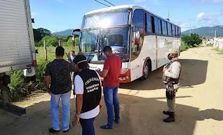 Ônibus é apreendido