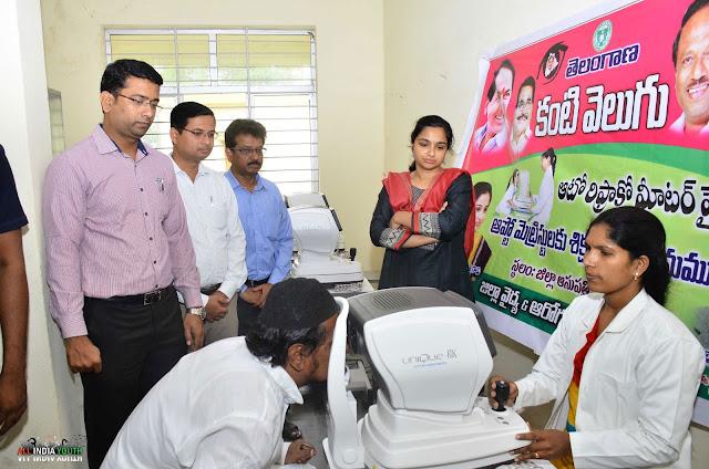 Swetha Mohanty supervising Kanti Velugu Program in Telangana