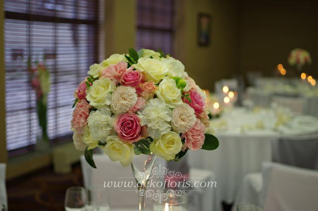 Różowa dekoracja wesela w hotelu De Silva Opole