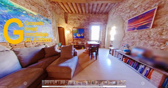 Vendita-Appartamento-Grosseto-Trilocale-piazza-dei...Ottimo-stato, primo piano, terrazza, riscaldamento autonomo