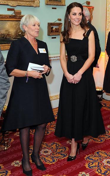 Kate Middleton wore Preen by Thornton Bregazzi Finella Dress, Temperley London Crystal Bow Belt