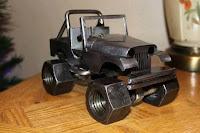 manualidades con chatarra reciclada - jeep