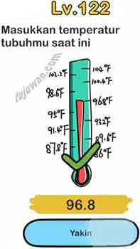 Jawaban Brain Out Saat Ini Masukkan Temperatur Tubuhmu Level 122