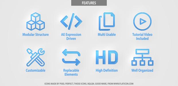 Glitch Digital Title Logo Pack