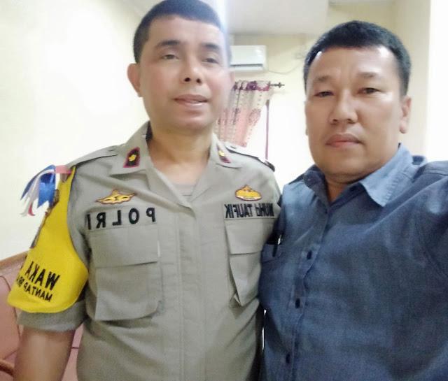 Sekreraris Mabmi Asahan Ok Rasyid dan Wakapolres Kompol Muhammad Taufik.