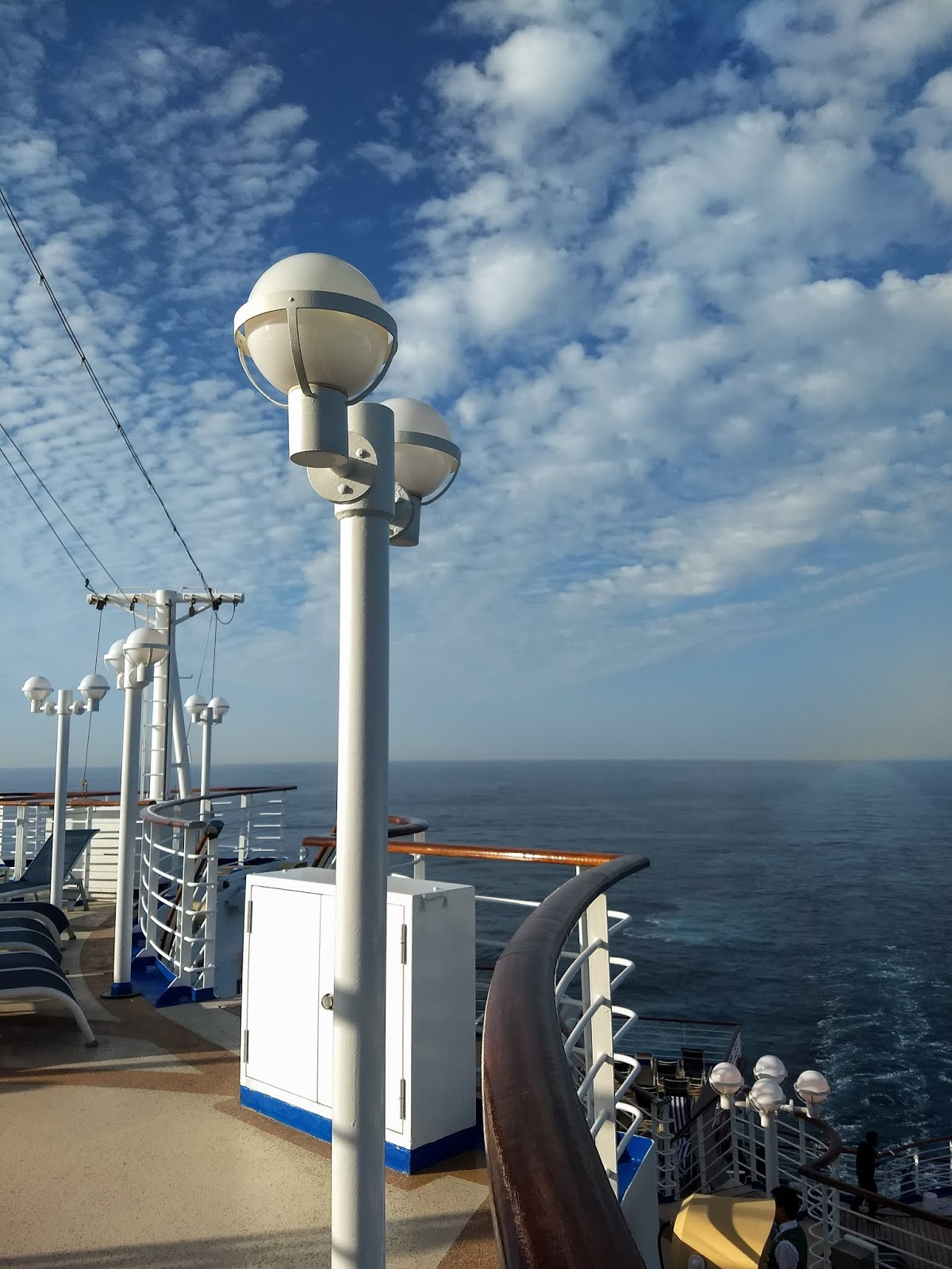 Cloudy, blue skies over the Atlantic Ocean from the Sapphire Princess.