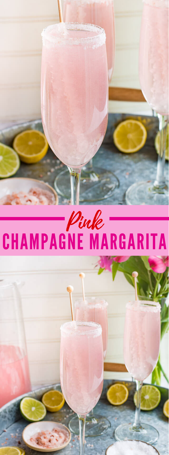 PINK CHAMPAGNE MARGARITA #drink #partydrink
