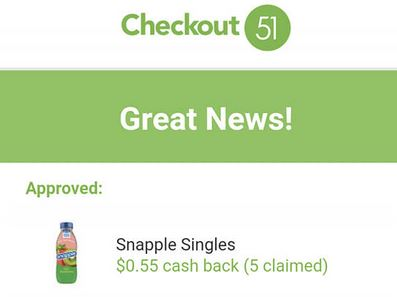 checkout 51 snapple offer