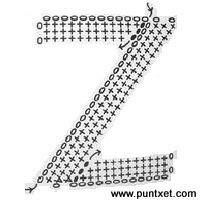 Patrón de letra Z de ganchillo