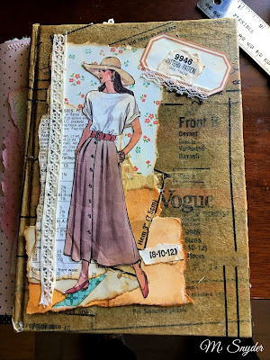 July 14, 2019 Finishing the cover of my Tracie Fox July challenge journal.