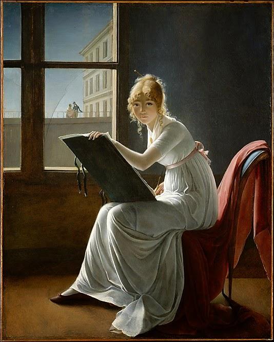 Jeune Femme Dessinant (1801), Marie-Denise Villers
