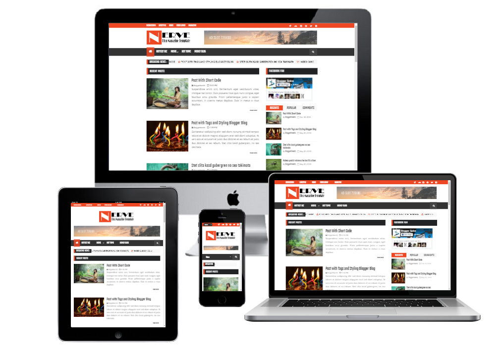demo of Nerve Responsive Magazine Blogger Template