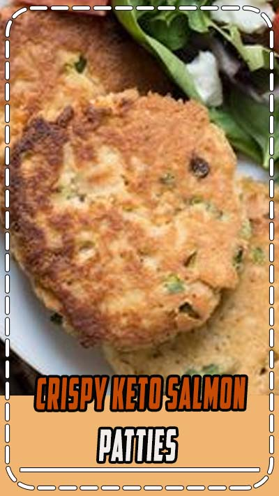 These Crispy Keto Salmon Patties are packed with tender salmon, cajun spices and fried until golden brown! An easy low carb dinner perfect for busy nights! #keto