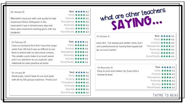 what other teachers are saying about their Orton Gillingham Blending Binder to use during your phonics block