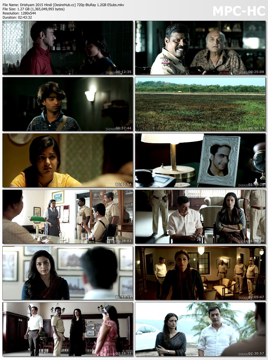 Drishyam 2015 Hindi 720p BluRay 1.2GB Desirehub