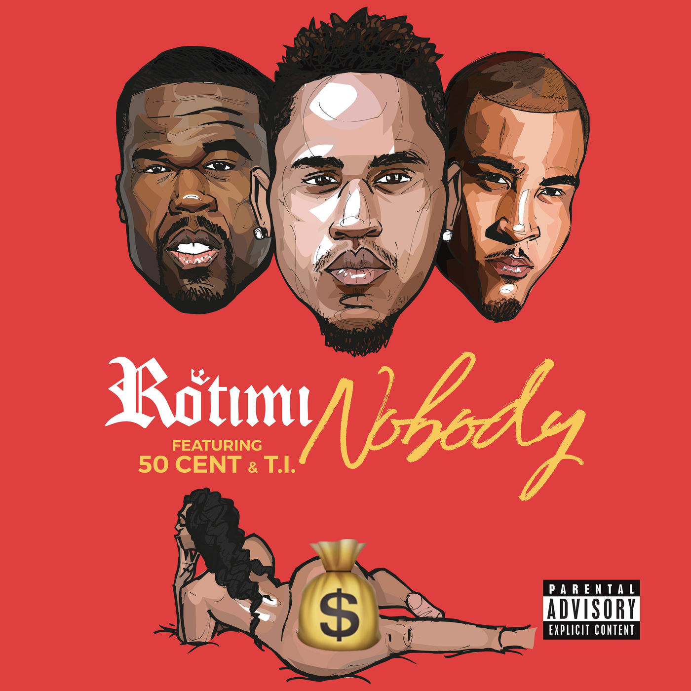 Rotimi - Nobody (feat. 50 Cent & T.I.) - Single Cover