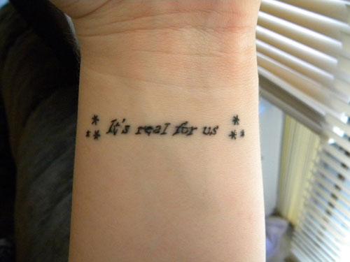 Sensational Short Tattoo Quotes ~ Tattoos Word Design