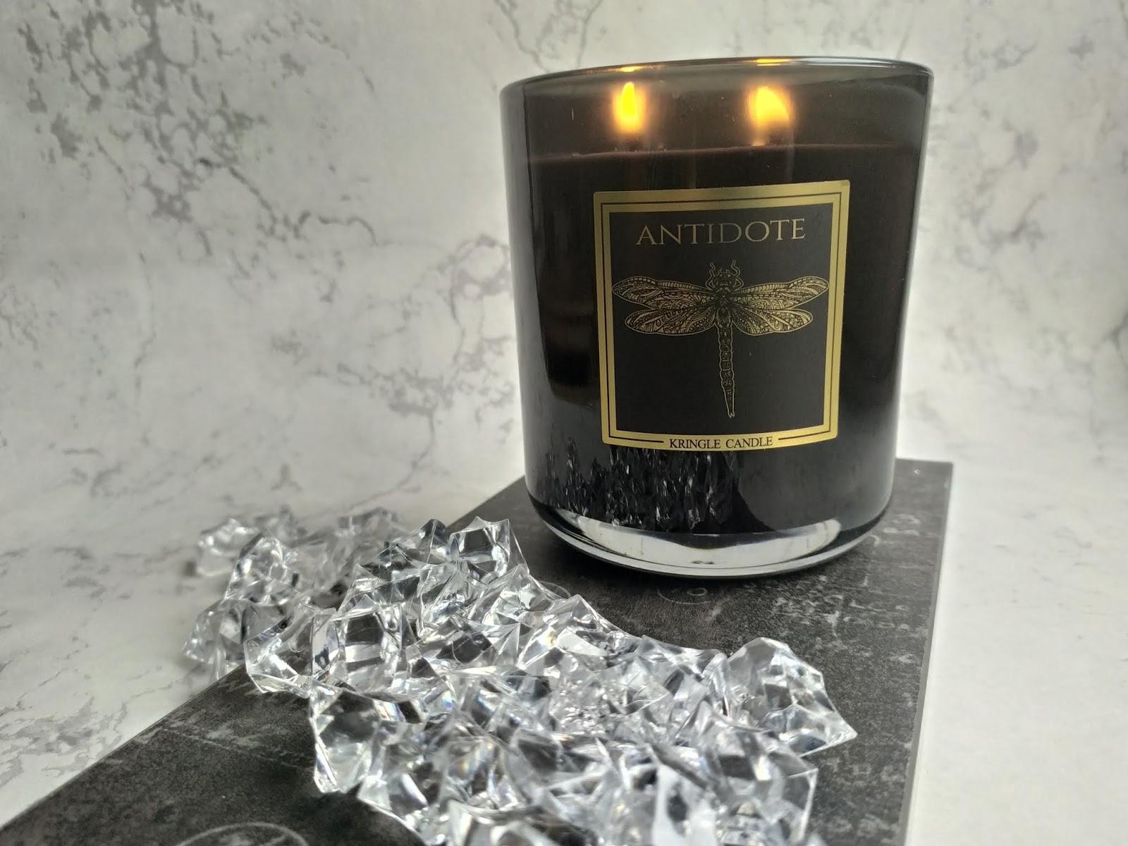 Kringle Candle Black Line ANTIDOTE, Kringle Candle, Świeca zapachowa, świeca, blog o świecach, świeca recenzja, recenzja, Antidote, ważka, limited collection, black line,  blog o świecach