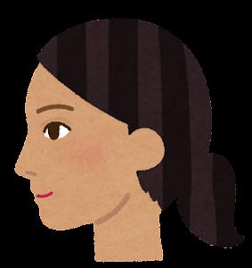 東南アジア人女性の横顔のイラスト