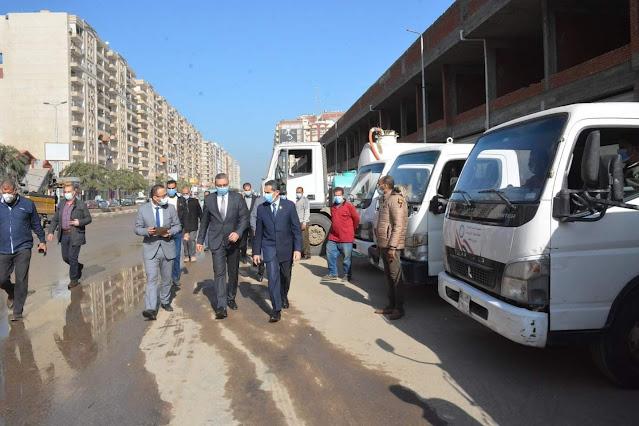 محافظ الغربية ونائبه يتفقدان اصطفاف المعدات تمهيداً للتدريب العملى صقر ٧٣